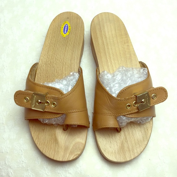 5acaa70dc978 Dr. Scholl s Shoes - Vintage Dr. Scholl s Wooden Sandals Shoes Size 8